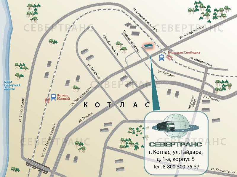 Схема проезда на склад - г.